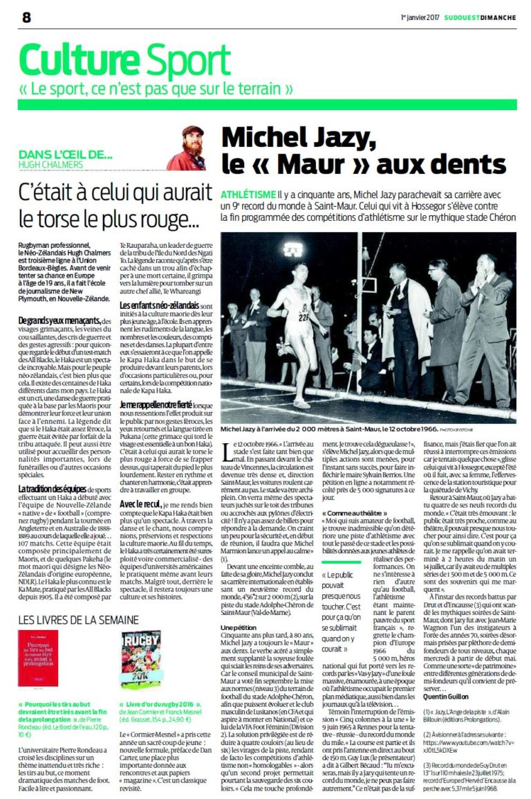 "Michel Jazy, le ""Maur"" aux dents"